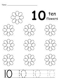 number 10 worksheet early childhood writing numbers worksheets