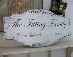wedding plaques personalized family name signs wedding signs established signs personalized