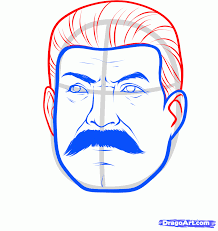 how to draw stalin joseph stalin step by step stars people