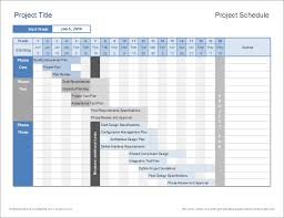 High Level Project Plan Excel Template Schedule Template