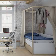 scandi style kids four poster bed by cuckooland