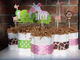 jungle baby shower table decorations