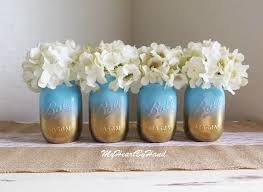 jar baby shower ideas baby shower jar set ombre jars baby blue and gold