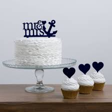 anchor wedding cake topper mr and mrs sailor anchor cake topper set by funky laser