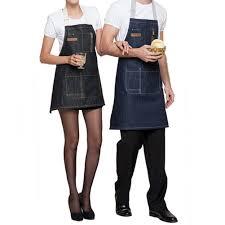 Designer Kitchen Aprons by Amazon Com Shopline Kitchen Apron Durable Cotton Denim Apron