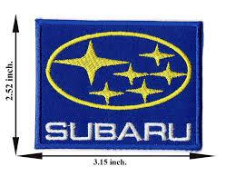 subaru emblem drawing amazon com blue subaru car motor logo iron on patch embroidered