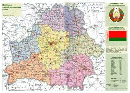 Europe Map Cities by Large Scale Political And Administrative Map Of Belarus With Roads