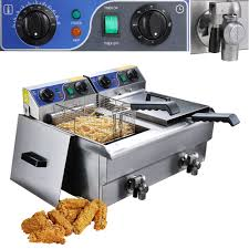20l commercial deep fryer w timer and drain fast food french frys