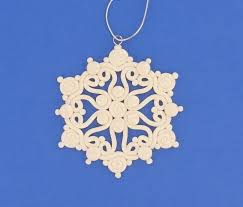extruded snowflakes made with clay not my recipe claycrafting