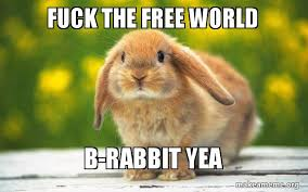 Fuck The World Memes - fuck the free world b rabbit yea b rabbit make a meme