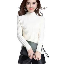 warm womens sweaters autumn winter womens sweaters sleeve striped cable knitted