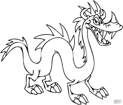 tricky dragon coloring page free printable coloring pages