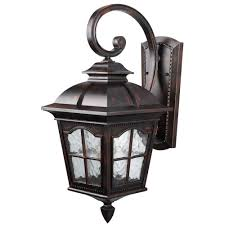 Rustic Outdoor Wall Lighting Canarm 1 Light Rustic Bronze Outdoor Wall Lantern With