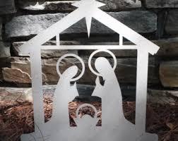 outdoor nativity etsy