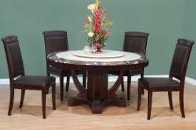 Round Espresso Dining Table Round Marble Dining Table Set Foter