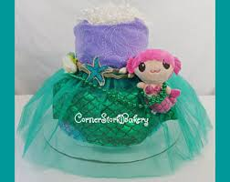 mermaid diaper cake etsy