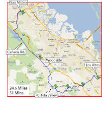 Commute Map My U201csecret U201d Commute To Silicon Valley U2013 Part One Country Lanes