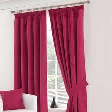 Pink Pleated Curtains Solar Fuchsia Blackout Pencil Pleat Curtains Dunelm