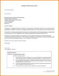 letter retirement letter samples