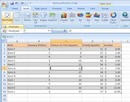 create a report as a table in excel create a pivottable or pivotchart report pivottable pivottable