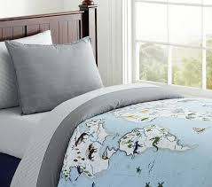 map duvet cover twin pottery barn kids