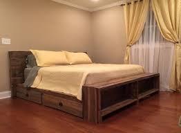 Platform King Size Bed Frame Hardwood King Size Bed Frame Bed Of Wood Solid Wood Size