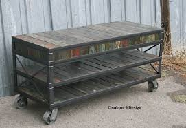 buy a custom made vintage industrial tv stand reclaimed wood
