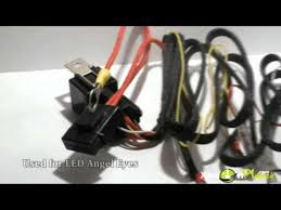 bmw smd led angel eyes harness wiring youtube