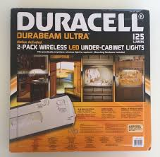 wireless led under cabinet lights duracell led under cabinet light 2 pack amazon com