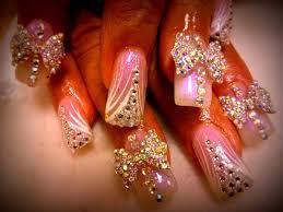 acrylic nails big bow nail designs youtube