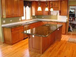 Diy Kitchen Countertops Ideas with Kitchen Ideas With Brown Cabinets Glazed Subway Tile Backsplash