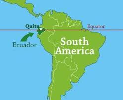 south america map equator where in the world is quito carissa in quito