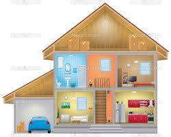 interior clipart house outline pencil and in color interior