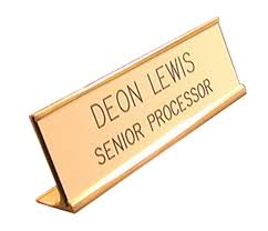 amazon com golden custom name interchangeable desk name plate