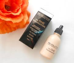 review and swatches makeup revolution the one foundation in shade