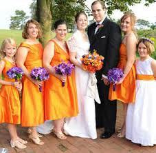 purple and orange wedding dress clemson wedding wednesdays part i orange bridesmaids