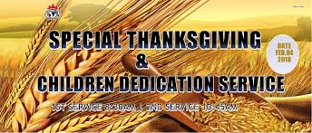 special thanksgiving children dedication service winners chapel