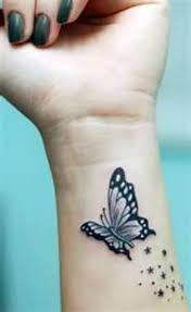 with butterfly on wrist s