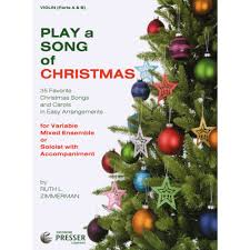 zimmerman ruth l play a song of christmas for violin published