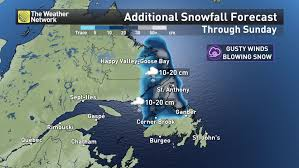 Snow Forecast Map News 50 Cm Of Snow More Rain For Atlantic Canada Long Weekend