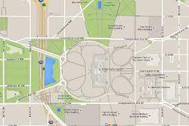 washington dc trolley map washington d c map of u s capitol building