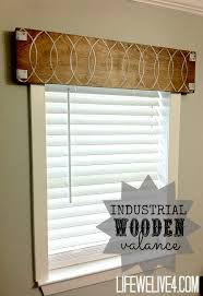 Window Treatment Valances Guest Post Life We Live 4 Industrial Wooden Valance The