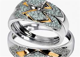 camo wedding ring sets his and hers camo wedding rings white gold camo wedding