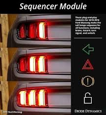 99 04 mustang sequential tail light kit 2010 2015 mustang sequential tail light sequencer module bls2010p