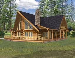 Log Cabin Blueprints 2900 Sq Ft North West Style Log Home Log Cabin Home Log Design