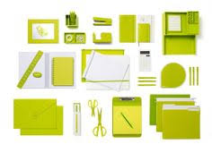 Green Desk Accessories White With Pops Of Aqua Is Day At The Poppin Desk
