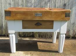 antique french butcher table french vintage butchers block chopping kitchen island striking
