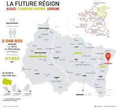 Map Of France With Cities by Map Of Grand Est With Cities And Old Regions