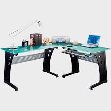 home design modern glass l shaped computer desk designs room