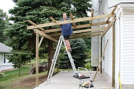 How To Build A Lean To On A Pole Barn How To Build A Timber Lean To Carport House Pinterest